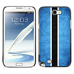 Shell-Star ( National Flag Series-Botswana ) Snap On Hard Protective Case For Samsung Galaxy Note 2 II / N7100