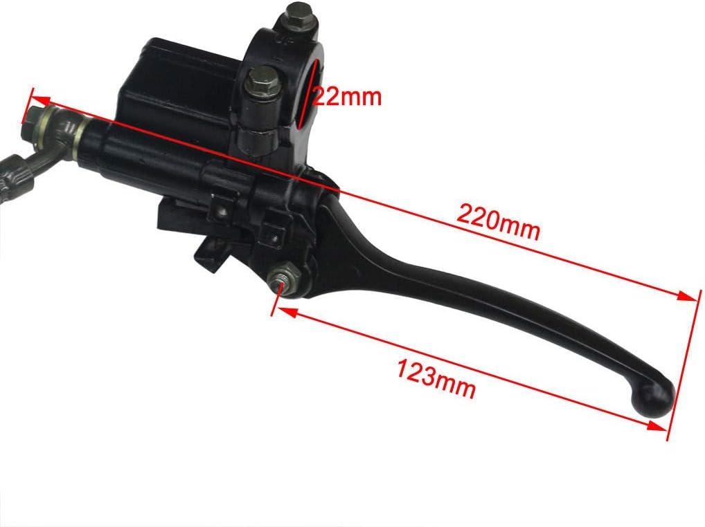ZXTDR 45mm//48mm Front Hydraulic Forks Shocks /& Triple Tree Handlebar Riser Clamp /& Brake Calliper for Dirt Pit Bike