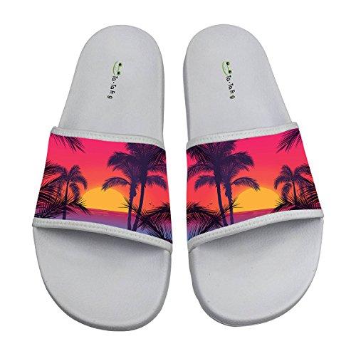 TA-TA FROG Romantic Bali Island Fashion Slide Sandals Indoor & Outdoor Slippers 6 (Bali Slide Sandal)