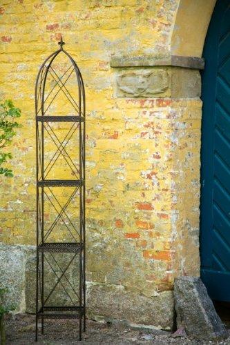 Rankgerüst Rankhilfe aus Metall H: 270cm, Breite: 39cm Rankturm Obelisk