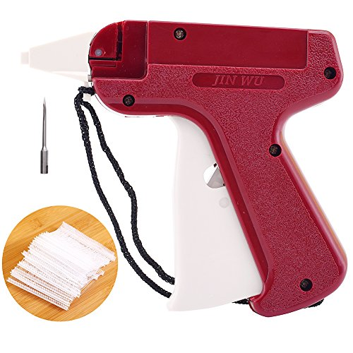 High Quality Tagging Gun for Clothing, Price Label Clothes Tag Gun for Retail Sock Hat Shirt Sticker, Not Easy to Jam Gear Structure, 1 Fine Needle + 1000 2