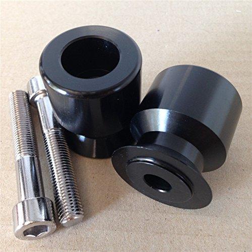 Black Swingarm Spools For Kawasaki Ninja 250R 650R Zx 6R 9R 10R 12R 14R Z1000 . HTT