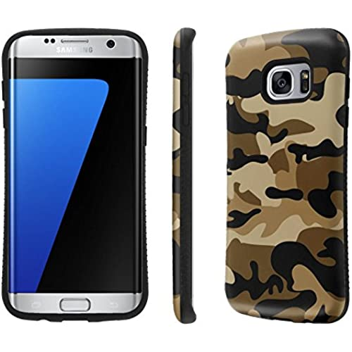 Galaxy S7 Edge / GS7 Edge Case, [NakedShield] [Black Bumper] Heavy Duty Shock Proof Armor Art Phone Case - [Desert Camouflage] for Samsung Galaxy S7 Edge Sales