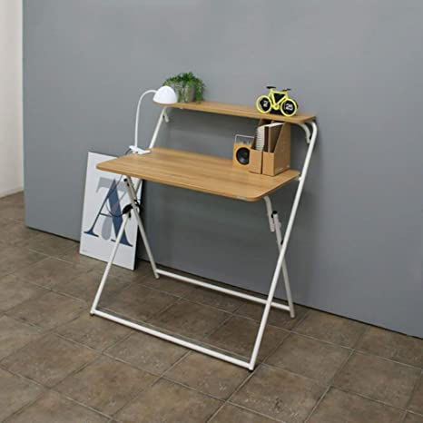 JIE Lazy Table- Escritorio Plegable Mesa de Escritorio Plegable ...