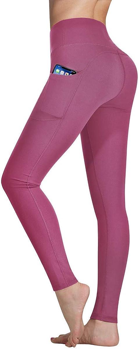 Occffy Cintura Alta Pantalón Deportivo de Mujer Leggings Mallas para Running Training Fitness Estiramiento Yoga y Pilates DS166