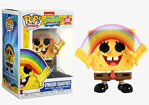 Spongebob Rainbow Pop Vinyl Figure Funko Animation: Spongebob Squarepants Includes Compatible Pop Box Protector Case