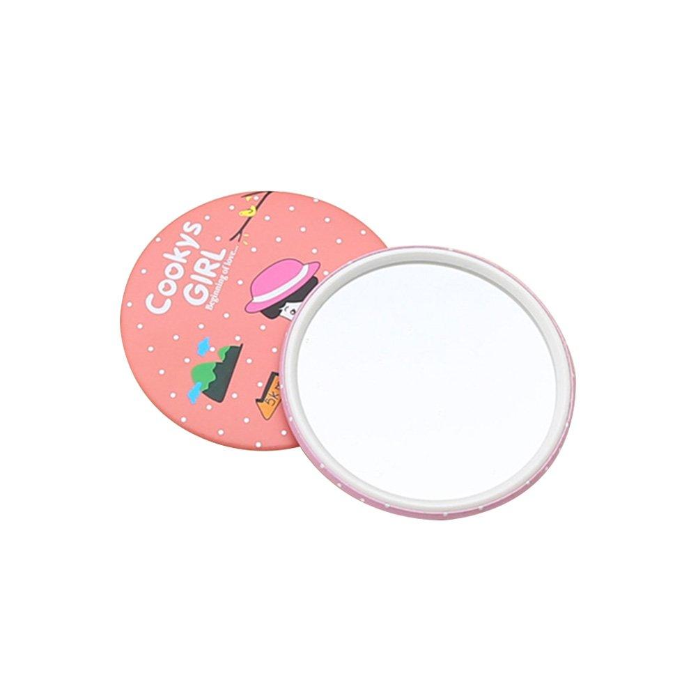 Frcolor Mini Taschenspiegel Portable Kosmetikspiegel Compact Spiegel Rundspiegel Looking Glass Makeup Tools