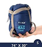 Tooge Backpacking Sleeping Bag for Outdoor and indoor- Envelope Sleeping Bags Easy to Compress into Storage Bag-Keep Warm for Camping, Hiking, Climbing and Rest (S-Blue)