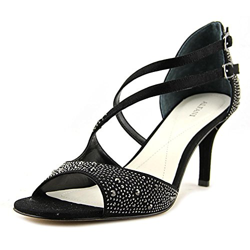 US Black Pumps Ankle Cremena Alfani Womens Strap Toe Open D orsay qqzFvIx8