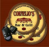 CORNELIO'S World Famous Bar & Grill Coasters - Set of 4