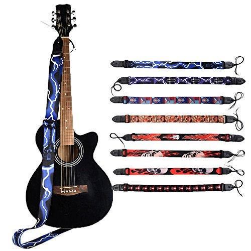 SUPVOX Cinghia per chitarra Cintura per chitarra elettrica folk-custom regolabile per chitarra acustica basso Accessori per strumenti musicali minoranza