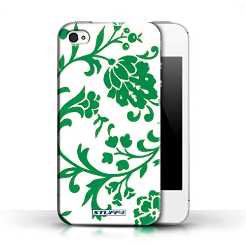 Etui / Coque pour Apple iPhone 4/4S / Fleurs Verte conception / Collection de Motif floral