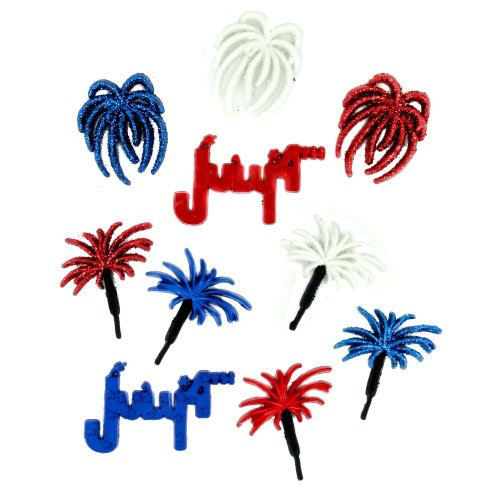 Jesse James Dress It Up 2676 Fourth of July Embellishment...