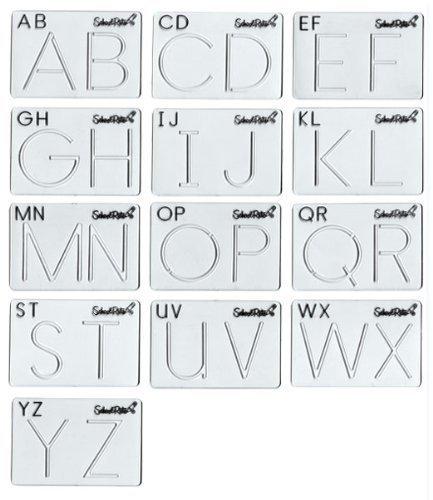(School-Rite Alphabet Template Set Uppercase by School-Rite )