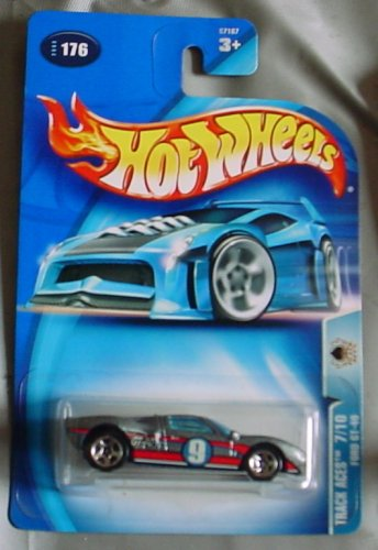 Hot Wheels 2003 Track Aces Ford GT-40 7/10 #176 - Ace Ford