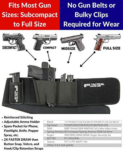 Ultra Belly Band Holster - Best For Concealed Carry IWB Gun