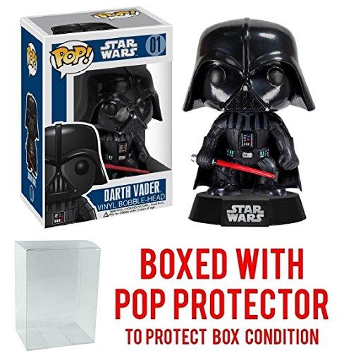 Funko Pop  Star Wars  Classic Darth Vader  01 Vinyl Bobble Head Figure  Bundled With Pop Box Protector Case