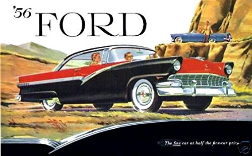 Read Online FULL COLOR AND BEAUTIFUL 1956 FORD PASSENGER CAR HISTORIC DEALERSHIP SALES BROCHURE - ADVERTISMENT Includes Mainline, Customline Fairlane, Station Wagon, All Models - 56 PDF