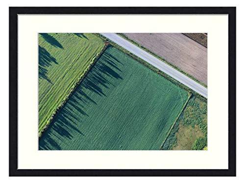 OiArt Art Print Wall Picture (20x14 inch) - Agriculture Cropland Farm Farmland Field (Best Way To Sell Farmland)