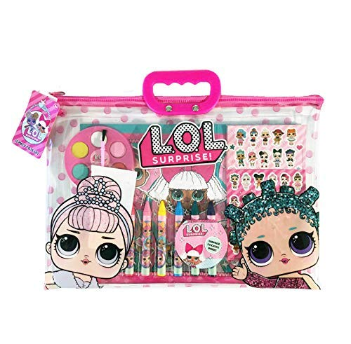 Girls Surprise! 12-Piece Drawing Painting Set w/Clear Tote Bag
