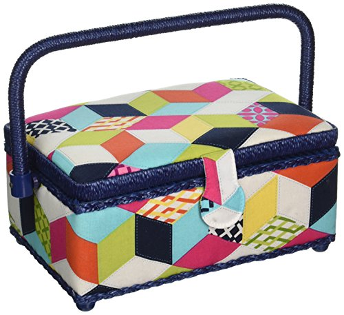 (Dritz St. Jane Small Rectangle Sewing Basket)