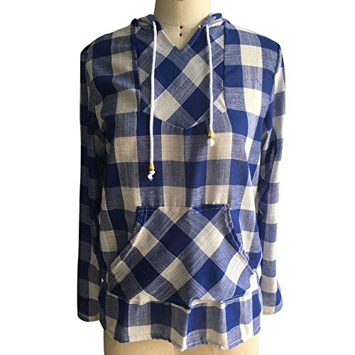 17f1873ded8 Clearance Women Tops LuluZanm Plaid Hoodie Long Sleeve Blouse Top Fashion  Womens Pullover T-Shirt: Amazon.com: Grocery & Gourmet Food
