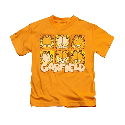 Garfield Many Faces Kids T-Shirt 7 Gold
