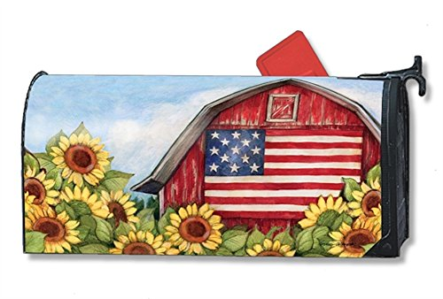 Old Glory Barn Fall Large Mailbox Cover Autumn Sunflowers Oversized MailWraps by MailWraps