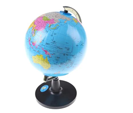14.2cm World Map Globe School Geography Teaching Tool Kids Educational Toy Home Office Ideal Miniatures With Swivel Stand Gift Geography