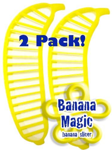UPC 851307000466, 2 Pack Banana Slicer Cutters * Banana Magic * Kitchen Tool - Handy Gadget instantly slice chop banana chips no knife necessary !
