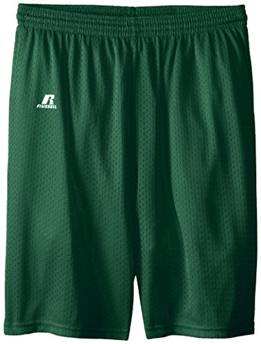Boys Gym Short - Russell Athletic Big Boys' Youth Mesh Short, Dark Green, Large