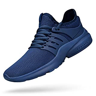 Feetmat Mens Running Tennis Work Shoes Slip On Resistant Sneakers Lightweight Breathable Athletic Fashion Zapatos Gym Sport Non Slip Casual Walking Shoes for Men Blue 9.5
