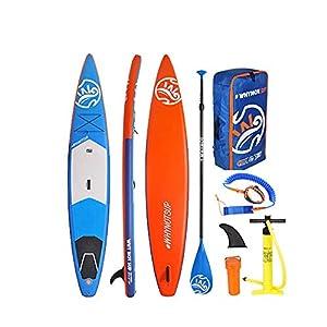 Kanqingqing-Sport Stand Up Paddel Gonfiabile Gonfiabile SUP Surfboard Bordo di Pala Pratico Set con Gli Accessori per… 4 spesavip