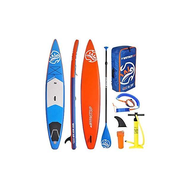 Kanqingqing-Sport Stand Up Paddel Gonfiabile Gonfiabile SUP Surfboard Bordo di Pala Pratico Set con Gli Accessori per… 1 spesavip