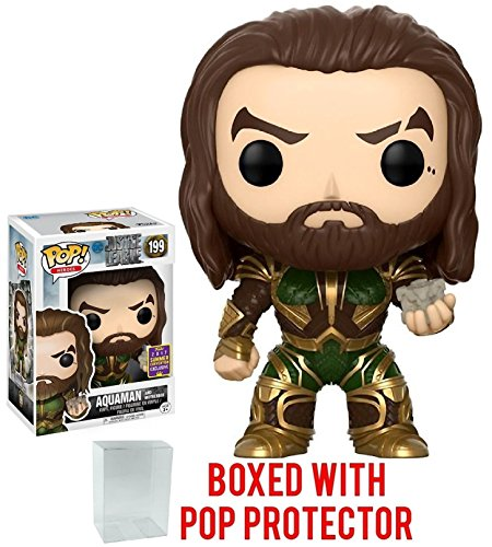 Funko POP! Movies: DC Justice League  Aquaman with Motherbox #199 SDCC 2017 Exclusive Vinyl Figure (Bundled with Pop BOX PROTECTOR CASE)