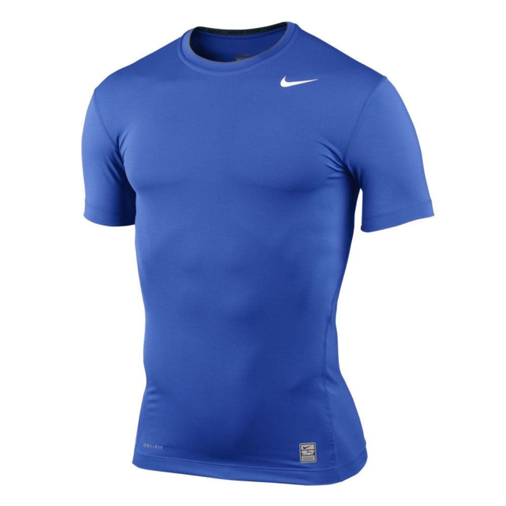 Nike 269603 Pro Combat Compression Short Sleeve Crew (Royal/Grey, 2XL)