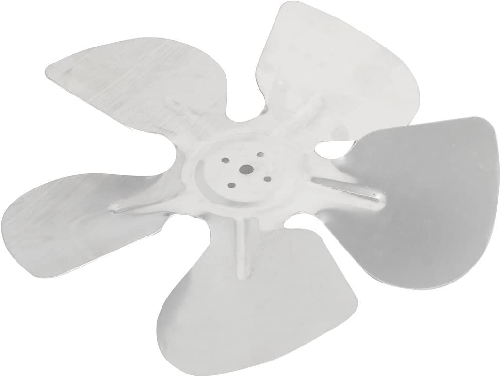 Aexit 245mm Dia Electrical equipment Silver Tone Aluminium Cooling Fan 5 Vanes for DC AC Motor