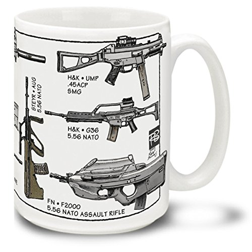 - Cuppa Second Amendment Rights 15-Ounce Coffee Mug with 21st Century Assault Rifles