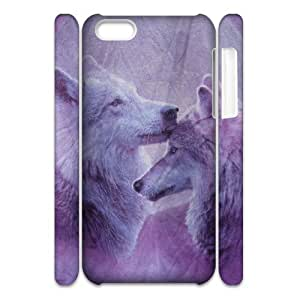 Wolf Customized 3D Cover Case for Iphone 5C,custom phone case ygtg601365