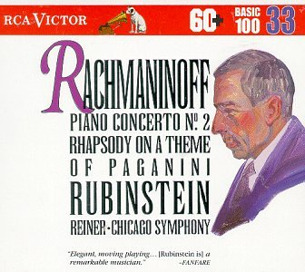 Price comparison product image Rachmaninoff: Piano Concerto No. 2 / Rhapsody on a Theme of Paganini / Vocalise (RCA Victor Basic 100, Vol. 33)