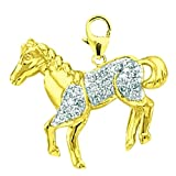 14K DIAMOND HORSE- YELLOW GOLD