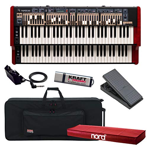 Nord C2D Combo Organ with Nord Half Moon Switch, Nord Dust Cover, Keyboard Case with Wheels, Expression Pedal and Flash Drive