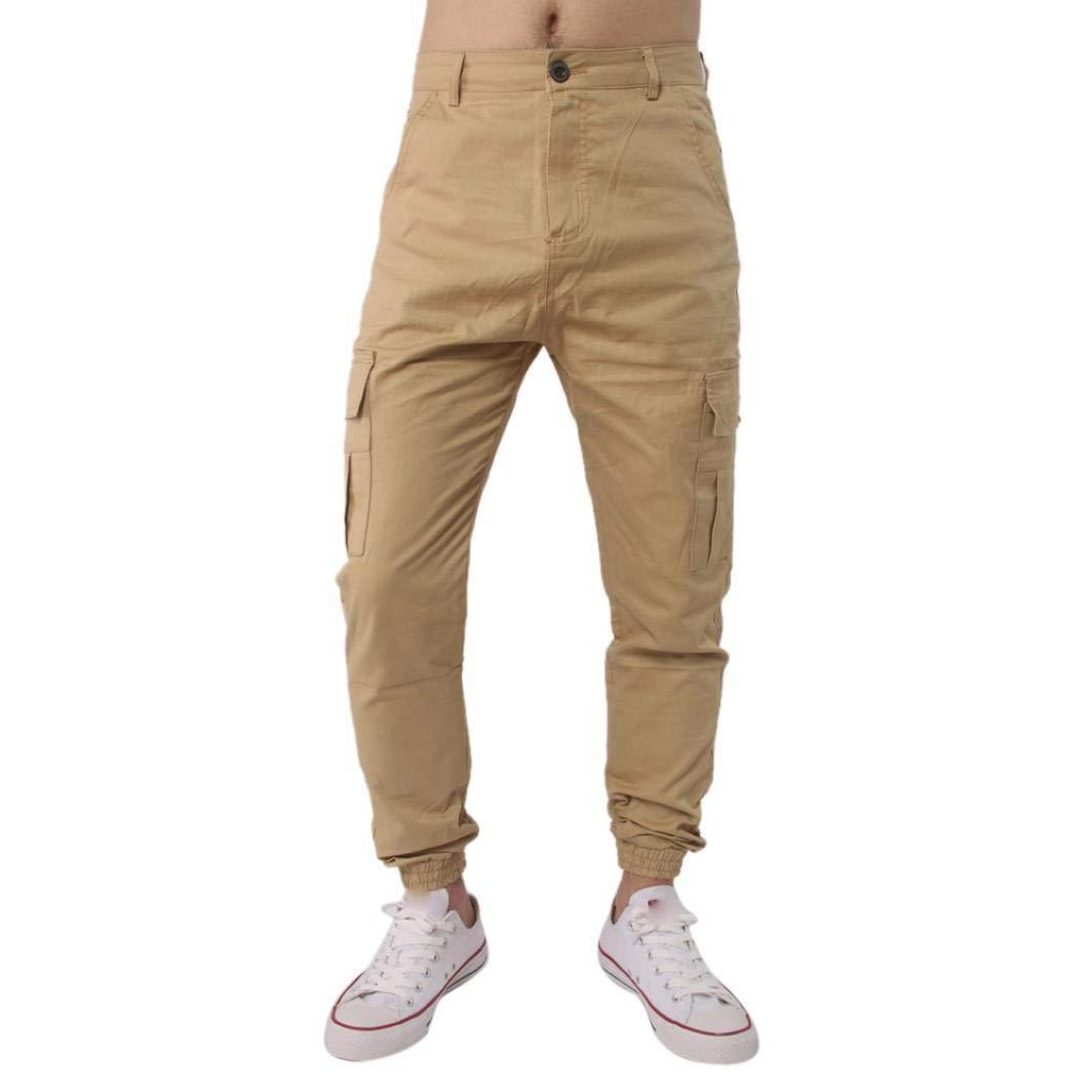 Realdo Hot!Clearance Sale, Men Trousers Harem Sweatpants Slacks Casual Jogger Pant Sportwear Comfy (38,Khika)