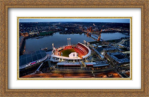 - Great American Ballpark 2X Matted 40x26 Large Gold Ornate Framed Art Print from The Stadium Series