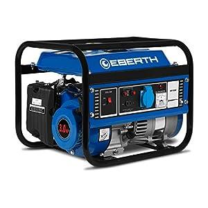 EBERTH 1000 W Generatore di corrente (3 CV Motore a benzina a 4 tempi, Monofase, 1x 230V, 1x 12V, Avviamento a strappo… 51XNLFSZqhL. SS300