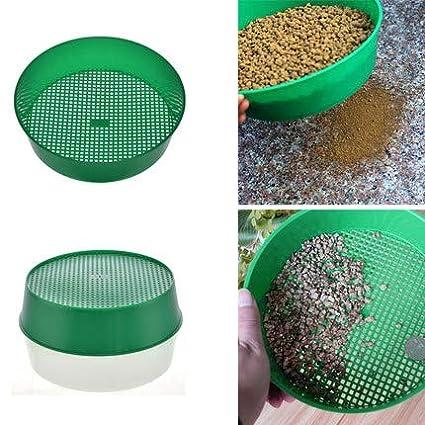 Cratone 5 St/ück Siebe Kunststoff Maschen Gartensieb aus Erdsieb Rund mit Siebeins/ätzen R/üttel Sand Garten Sieb