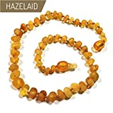 "Hazelaid (TM) 12"" Pop-Clasp Baltic Amber Caramel"