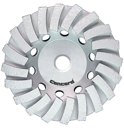 Concord Blades GCL070AHP 7 Inch Swirl Turbo Diamond Cup Wheel with 7/8