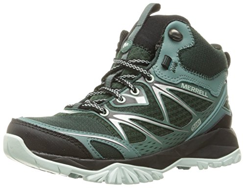 Merrell Women's Capra Bolt Mid Waterproof Hiking Boot, Pine Grove, 7.5 M US