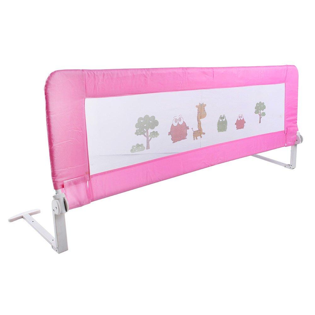 Barrera de seguridad para cama individual infantil, plegable, elección de color / tamaño, 150 / 180cm, azul, 150 mm Yosoo